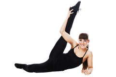 Fitness woman stretching full body Royalty Free Stock Photo