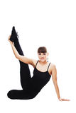 Fitness woman stretching full body Stock Photo