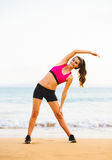 Fitness Woman Stretching Royalty Free Stock Photography