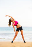 Fitness Woman Stretching Royalty Free Stock Images
