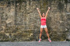 Fitness woman success Stock Images