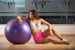 Fitness woman trainer Royalty Free Stock Images