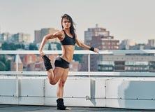 Fitness woman training city Stock Photography