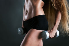 Fitness woman in training Royalty Free Stock Photo
