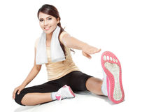 Fitness woman warming up Stock Photography