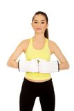 Fitness woman wearing boxing gloves. Stock Photography