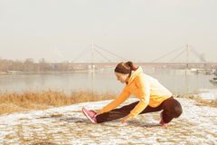 Fitness Woman Winter Activity Royalty Free Stock Photography