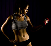 Fitness Woman Working Out Royalty Free Stock Images