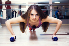 Fitness woman working out Stock Photo