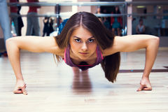 Fitness woman working out Royalty Free Stock Photo
