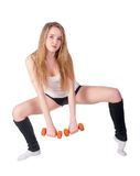 Fitness woman working out Royalty Free Stock Photography