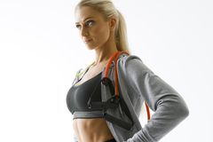 Fitness woman workout royalty free stock photos