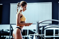 Fitness woman Royalty Free Stock Photos