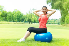 Fitness women exercising outdoors Stock Images