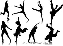 Fitness Women silhouettes Royalty Free Stock Photo