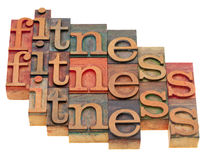 Fitness word abstract Royalty Free Stock Images