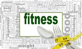 Fitness word cloud design Royalty Free Stock Photo