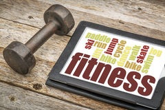 Fitness word cloud Royalty Free Stock Photography