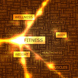 Fitness. Word cloud illustration. Tag cloud concept collage Royalty Free Stock Image