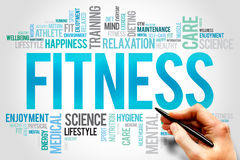 FITNESS. Word cloud, sport, health concept Royalty Free Stock Photo