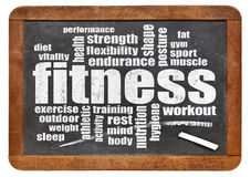 Fitness word cloud Royalty Free Stock Images