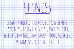 Fitness word cloud Stock Photo