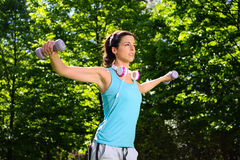 Fitness working out and sport lifestyle outdoor Royalty Free Stock Images
