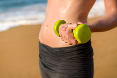 Fitness and working out on summer concept Stock Images