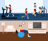 Fitness Workout Banner royalty free illustration