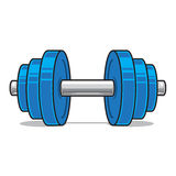 Fitness workout dumbbell isolated on white. Stock Photos