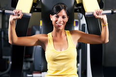 Fitness workout in gym Royalty Free Stock Images
