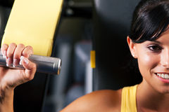 Fitness workout in gym Stock Images