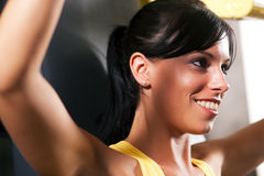 Fitness workout in gym Royalty Free Stock Image