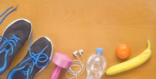 Fitness workout, reducing weight for the springtime Stock Image