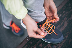 Fitness workout and running concept Stock Photo