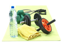 Fitness workout set Royalty Free Stock Photography