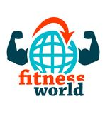 Fitness world icon. Fitness icon on white for web and mobile Stock Images