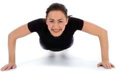fitness wykonuje fizycznej kobieta Obraz Stock