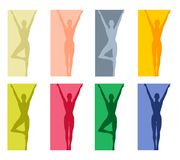 Fitness Yoga or Dance Borders 2 stock illustration