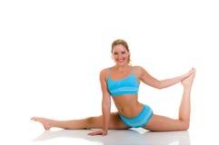 Fitness yoga exercise Stock Photos