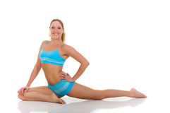 Fitness yoga exercise Royalty Free Stock Photos