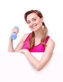 Fitness young woman Royalty Free Stock Photos