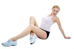 Fitness young woman Stock Images
