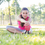 Fitness Young Woman Doing Stretching Exercises Royalty Free Stock Image