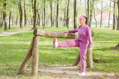 Fitness Young Woman Training Outdoor. Fitness Young Woman ,Training Outdoor, Healthy lifestyle Royalty Free Stock Images