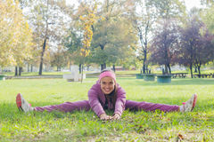 Fitness Young Woman Training Outdoor. Fitness Young Woman ,Training Outdoor, Healthy lifestyle Stock Photo