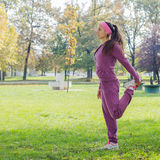Fitness Young Woman Training Outdoor. Fitness Young Woman ,Training Outdoor, Healthy lifestyle Stock Images