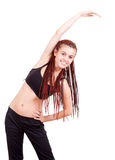 Fitnesses teenage girl with african braids Royalty Free Stock Photos