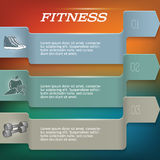 Fitnesss_backgroup-template-page-newsletter royalty free illustration
