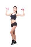 Fitnesvrouw het uitoefenen stock fotografie